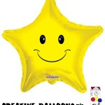 17915-18 Smiley Face Star Shaped Foil Balloons - Creative Balloons Mfg. Inc