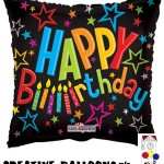 19182-18 Happy Birthday Square Shaped Foil Balloons - Creative Balloons Mfg. Inc
