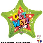 19485-18 Get Well Soon Foil Balloons - Creative Balloons Mfg. Inc