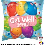 19487-18 Get Well Soon Foil Balloons - Creative Balloons Mfg. Inc