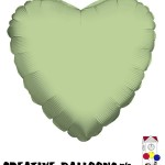 19318-18 Sage Green Heart Foil Balloons - Creative Balloons Mfg. Inc