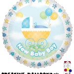 17774 New Baby Boy Foil Balloons - Creative Balloons Mfg. Inc