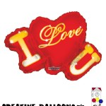17824-14 I Love You Shaped Foil Balloons - Creative Balloons Mfg. Inc