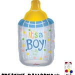 19169-36 Its A Boy Bottle Shaped Foil Balloons - Creative Balloons Mfg. Inc