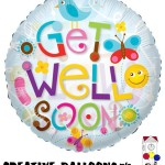 19449-09F 9 Inch Get Well Soon Foil Balloons - Creative Balloons Mfg. Inc