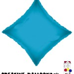 17894-18 Turquoise Blue Diamond Foil Balloons - Creative Balloons Mfg. Inc