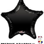 19272-18 Black Star Foil Balloons - Creative Balloons Mfg. Inc