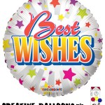 19303-18 Best Wishes Foil Balloons - Creative Balloons Mfg. Inc