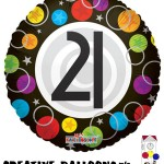20143-18 Happy 21st Birthday Foil Balloons - Creative Balloons Mfg. Inc