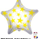 34387-22 Yellow Stars Foil Balloons - Creative Balloons Mfg. Inc