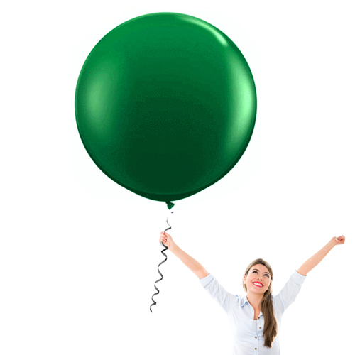 24 Inch Decorator Emerald Green Latex Balloons - Creative Balloons Manufacturing
