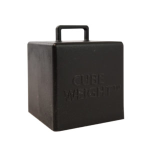65 gram Cube Weight Black Balloon Weight - Creative Balloons Manufacturing